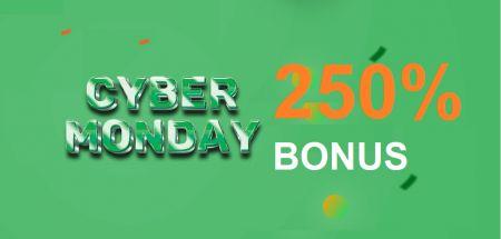 Promotion de Raceoption CYBER MONDAY - Bonus de dépôt de 250%